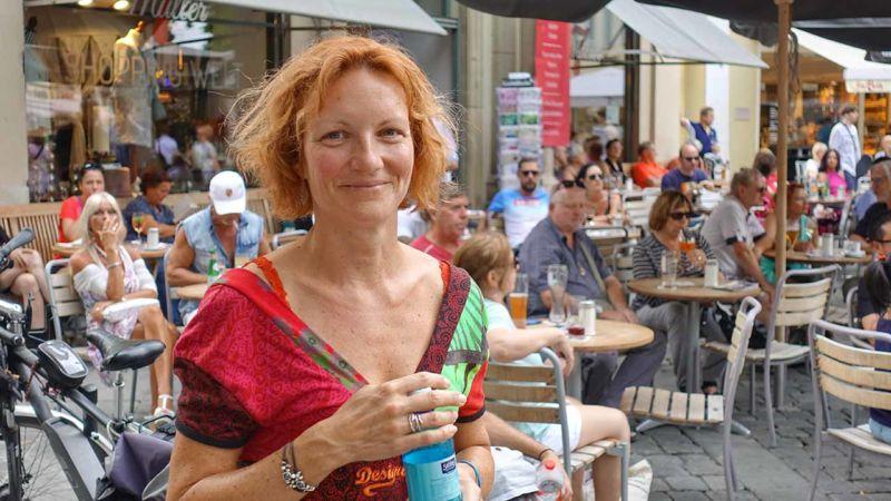 Tanja beim Konzert