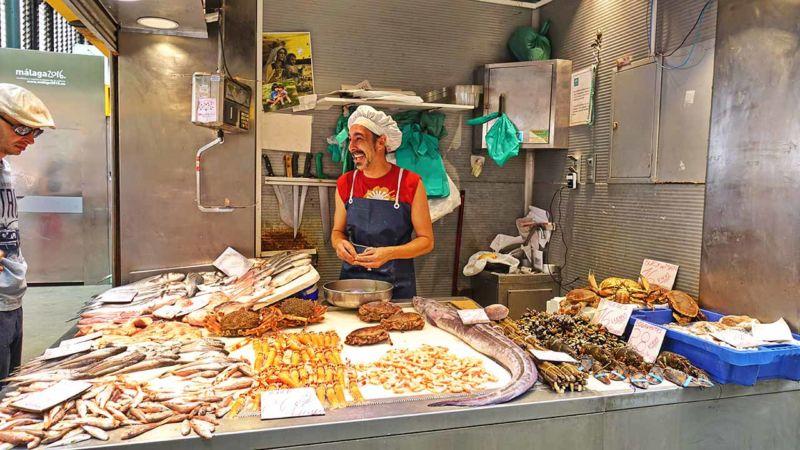 Fischhändler im Markt