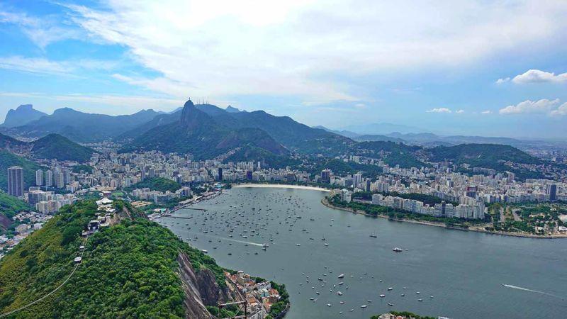 Blick Richtung Corcovado