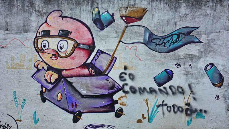 Graffiti im Viertel Lapa