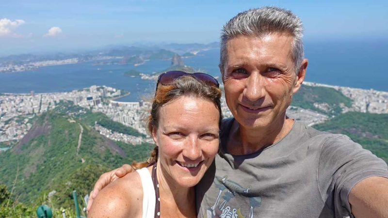 Selfie auf dem Corcovado