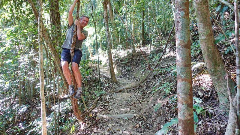 Schwungvoller Abstieg vom Corcovado