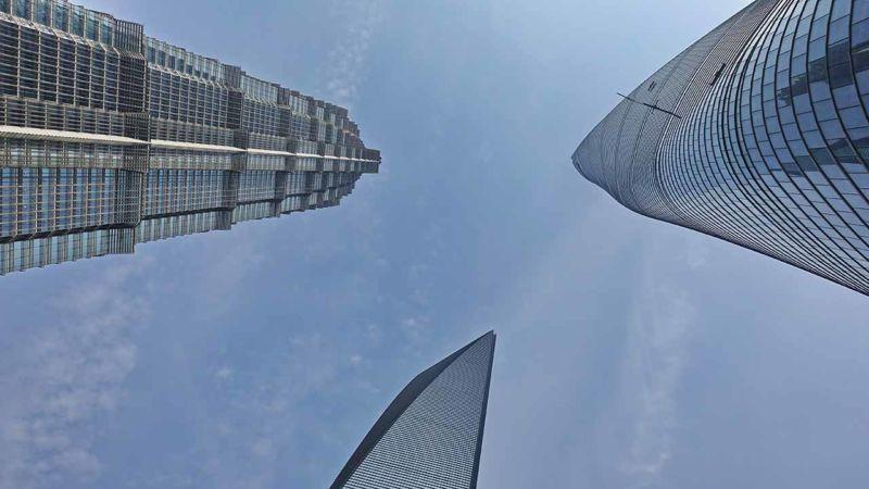 Skyline von unten