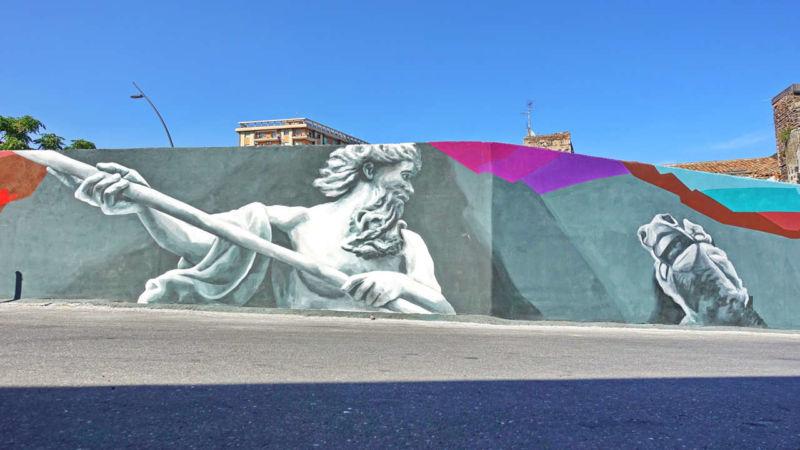 Streetart beim Strand in Catania