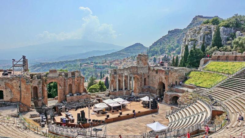Amphitheater in Taormina